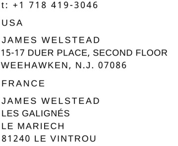 JAMES WELSTEAD CONTACT